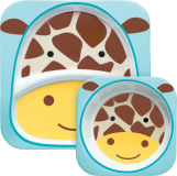 SKIP HOP Zoo Jídelní set - Žirafa