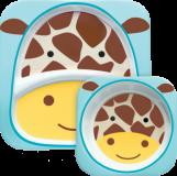 SKIP HOP Zoo Jedálenský set melamínový Žirafa 6 m+