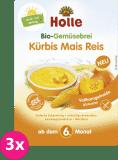 3x HOLLE Organická zeleninová kaše dýně kukuřice rýže, 175 g