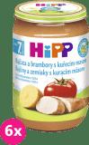 6x HIPP BIO Rajčata a brambory s kuřecím masem (220 g) - maso-zeleninový příkrm