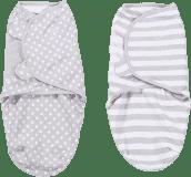 SUMMER INFANT Zavinovačka SwaddleMe šedej bodkami / šedé prúžky 2ks