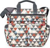 SKIP HOP Prebaľovacia taška s podložkou Duo Signature - Trojuholníky