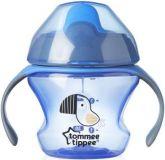 TOMMEE TIPPEE Netečúci hrnček Explora First Cup 150 ml, 4m+, modrý