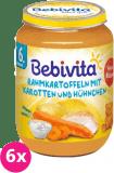 6x BEBIVITA Smetanové brambory s mrkví a kuřecím masem (190 g) – masozeleninový příkrm