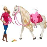 MATTEL BARBIE Interaktywny Koń Barbie + Lalka