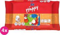 4x BELLA HAPPY BABY Vlhčené ubrousky s vitamínem E 64 ks MEGA PACK