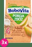 3x BOBOVITA Porcja Zbóż Kaszka mleczna 3 zboża gruszka 6m+ (210 g)