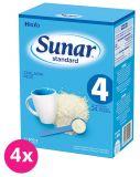 Expirácia: 27.3.2020 4x SUNAR Standard 4 (500g) – dojčenské mlieko
