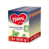5 x HAMI 6+ Na dobrú noc (600 g) – dojčenské mlieko