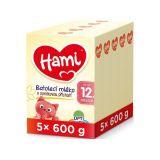 5 x HAMI 12+ s príchuťou vanilky (600 g) – doojčenské mlieko