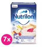 7 x NUTRILON Pronutra® Krupicová kaše s ovocem Good Night 225 g, 6+