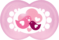MAM Dudlík Nature 6+ měsíců, silikon, holka – náhodný motiv
