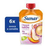 6x SUNAR Kašička s cereáliemi mix ovoce (120 g)