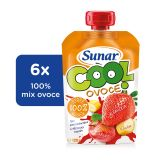 6x SUNAR Cool ovoce Jahoda, Banán, Jablko (120g) - ovocný príkrm