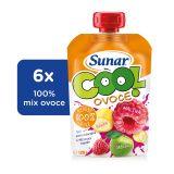6x SUNAR Cool ovoce Malina-Banán-Jablko (120 g) – ovocný příkrm