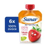 6x SUNAR Do ručičky jahoda 100 g