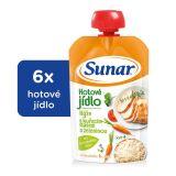 6x SUNAR Kapsička - Rýže s kuřecím masem a zeleninou 120 g