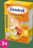 3x SUNÁREK Ovocná s 8 cereáliemi (180 g) - nemléčná kaše