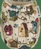 T-TOMI Bambusová kalhotková plena AIO + 2 bambusové vkládací pleny, ptačí budka