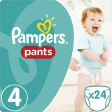 PAMPERS Pants 4 MAXI 24 szt. (8-14 kg), CARRY PACK - pieluchomajtki