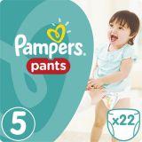 PAMPERS Pants 5, 22 ks (11-18 kg) CARRY Pack - plienkové nohavičky