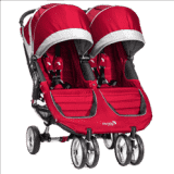 BABY JOGGER Kočárek City Mini Double - Crimson/Gray