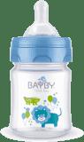 BAYBY BFB 6101 Kojenecká láhev PP 120ml - modrá (0m+)