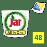 JAR Yellow 48 ks - kapsule do umývačky riadu