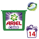 ARIEL Color All in 1 Gelové Kapsle - 14 praní