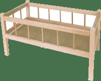 TEDDIES Postieľka pre bábiky drevená 49x28x28 cm