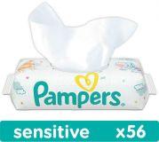 PAMPERS Sensitive 56 szt. bez wieczka - chusteczki nawilżane