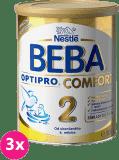 3x NESTLÉ BEBA OPTIPRO Comfort 2 (800 g) – kojenecké mléko