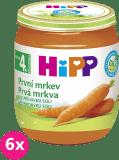 6x HIPP BIO Prvá mrkva (125 g) - zeleninový príkrm