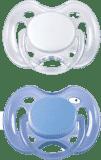 AVENT Šidítko sensitive, 2 ks (0 – 6 m) – modrá + bílá