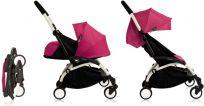BABYZEN YOYO+ Bílý rám + Novorozenecký balíček s textilním setem, Pink 2018
