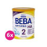 6 x BEBA OPTIPRO HA 2 (800 g) - dojčenské mlieko
