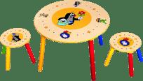 BINO Detský set stolík a stoličky - Krtko