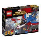 LEGO® Super Heroes 76076 Kapitán America a naháňačka v stíhačke