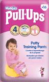 HUGGIES® PULL-UPS vel. 4 (8-15 kg), 16 ks – dívčí tréninkové kalhotky