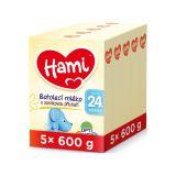 5 x HAMI 24+ s příchutí vanilky (600 g) – kojenecké mléko