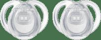 TOMMEE TIPPEE Šidítko CTN silikon Any Time 2 ks 0-6 m-čiré
