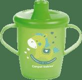 CANPOL BABIES Nevylévací hrníček TOYS – zelený (250ml)