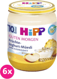 6x HIPP BIO Müsli, ovoce a jogurt (160 g) - ovocný příkrm