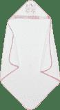 INTERBABY osuška dětská froté 100x100 tři kamarádi - bílo-růžová