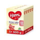 5 x HAMI 12+ s příchutí vanilky (600 g) – kojenecké mléko