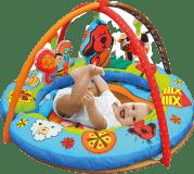 K´S KIDS Aréna kulatá s polštáři, hrazdičkou a závěsnými hračkami