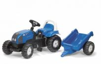 ROLLY TOYS Šliapací traktor Rolly Kid Landini s vlekom – modrý
