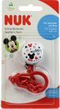NUK Řetízek na dudlík Disney Mickey - červený