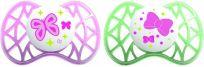 NUVITA Střední symetrické dudlíky 6M+, Pink and Green (2 ks)