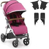 BABYSTYLE OYSTER Zero kočárek, wow pink +  Adaptér na korbu + Adaptér na autosedačku, černý 2018
